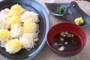 日本酒麺つゆ+そうめん