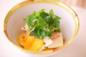 柿の彩りサラダ