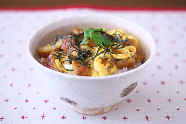 日本酒麺つゆ+うな玉丼