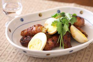 豚肉と卵のアジアン炒め煮