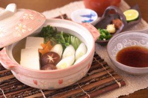 日本酒で作る湯豆腐