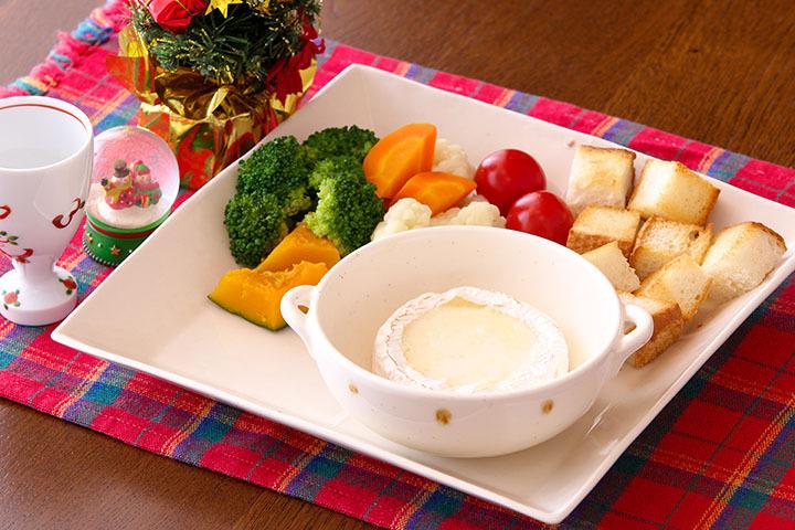 緑黄色野菜のチーズフォンデュ