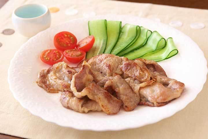 豚肉のソテーわさび風味