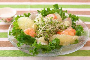 魚介のグレフルカルパッチョ