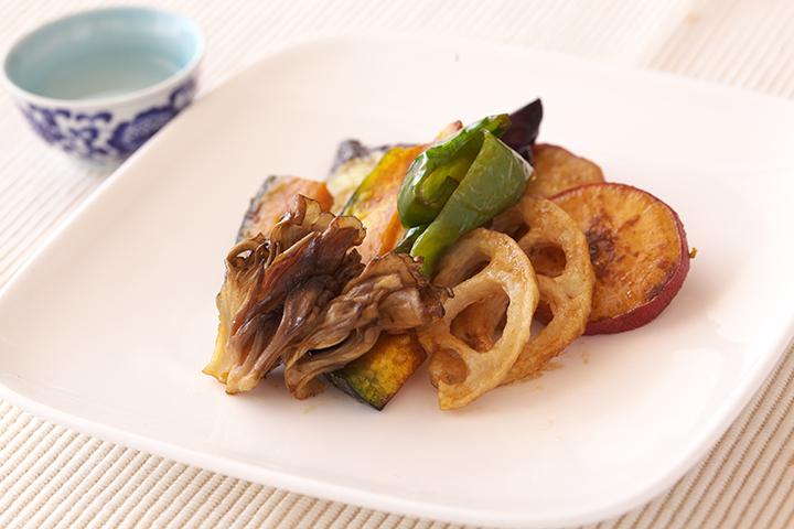 秋野菜のバルサミコマリネ