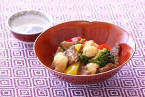 ブロッコリーとカリフラワーの牛肉オイスター炒め