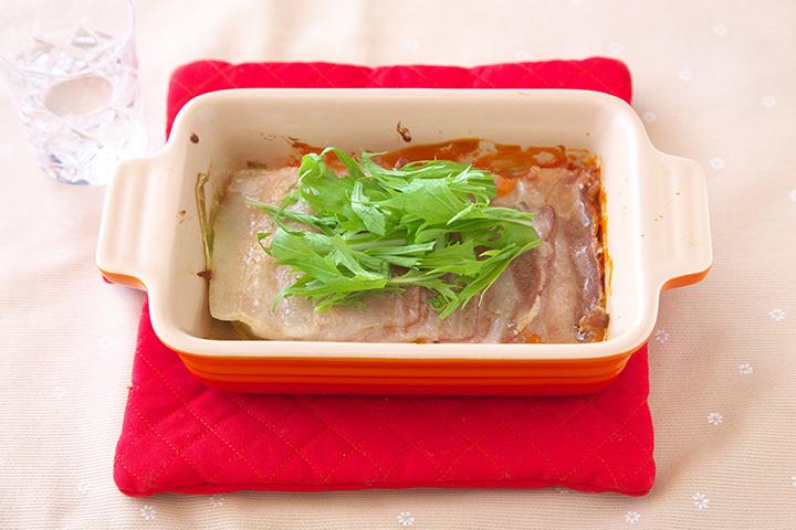 豚ばら肉のオーロラソース焼き