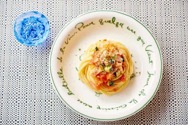ズッキーニとトマトのカッペリーニ
