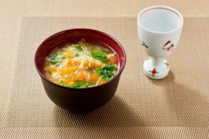 水菜とにんじんの旨味汁