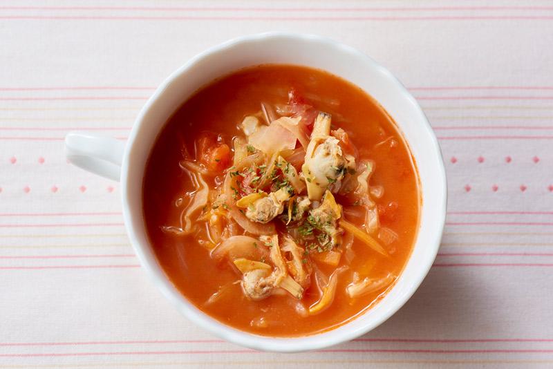 甘酒入りアサリと野菜のスープ