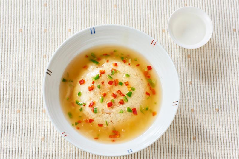桜海老の豆腐と卵蒸し